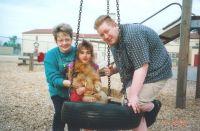 Carolyn, Krystal, and James II '00