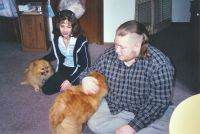 James, Krystal, and Dogs '02