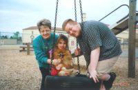 Carolyn, Krystal, and James '00