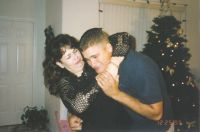 Cathy and Jason on Christmas in Vegas '99