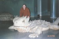 James and a Giant Lizard in Vegas '99